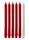Red & White Advent Candle Set (1