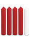 Red and White Advent Candle Set (2