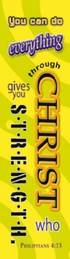"""""""Philippians 4:13"""" Bookmarks Pack of 10"""