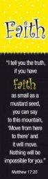 """Faith"" (Yellow/Black) Bookmarks"