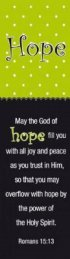 """Hope"" (Green/Black) Bookmarks"