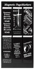 Black & White Magnetic Page Markers - Pack of 6