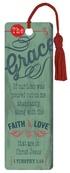 """Grace"" (Teal) PVC Bookmark"