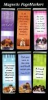 A Friend Loves Magnetic Page Markers - Pack of 6