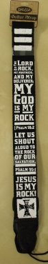 God Is My Rock Guitar Strap