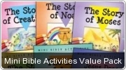 Banner: Mini Bible Activities Value Pack