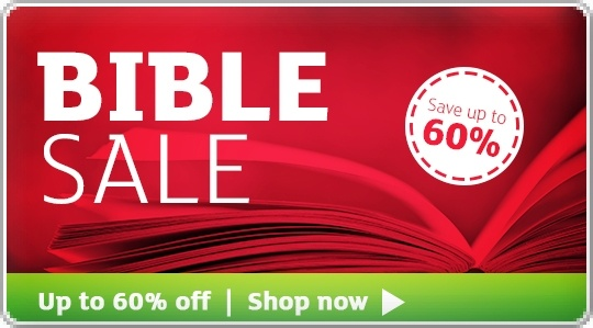Banner: Bible Sale - Save up to 60%