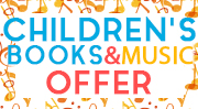 Banner: Childrens Books and Music Offer - Save up to 50%