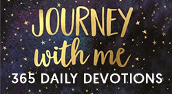 Banner: Journey With Me: 365 Daily Devotions by Catherine Campbell