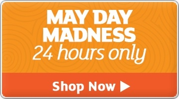 Banner: May Day Madness - Save up to 93%