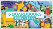 Banner: Six Bible Story Board Books for £14.99