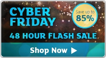 Banner: Cyber Friday Flash Sale - Save up to 85%