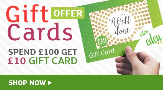 Spend £100 Get £10 Gift card
