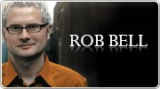 Banner: Books, DVDs and resources by Rob Bell