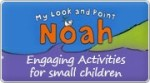 Banner: My Look and Point Noah Stick-a-Story Book