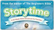 Banner: Storytime - 52 Weeks of Bible Fun for Families