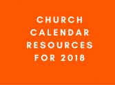 Get Ready for 2018: Church Calendar Resources