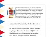 Grace for the Diamond Jubilee Lunch published