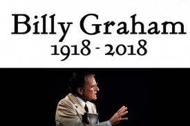 We remember Billy Graham, who passed away Wednesday 21st February 2018 at the age of 99.