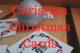 Christmas cards containing scripture verses and supporting charities