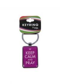 Keep Calm and Pray Keyring