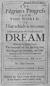 Pilgrim's Progress front page