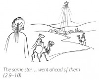 Good News Bible Line Drawing