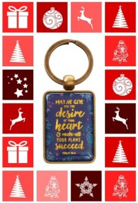 May He Give You the Desires Keyring