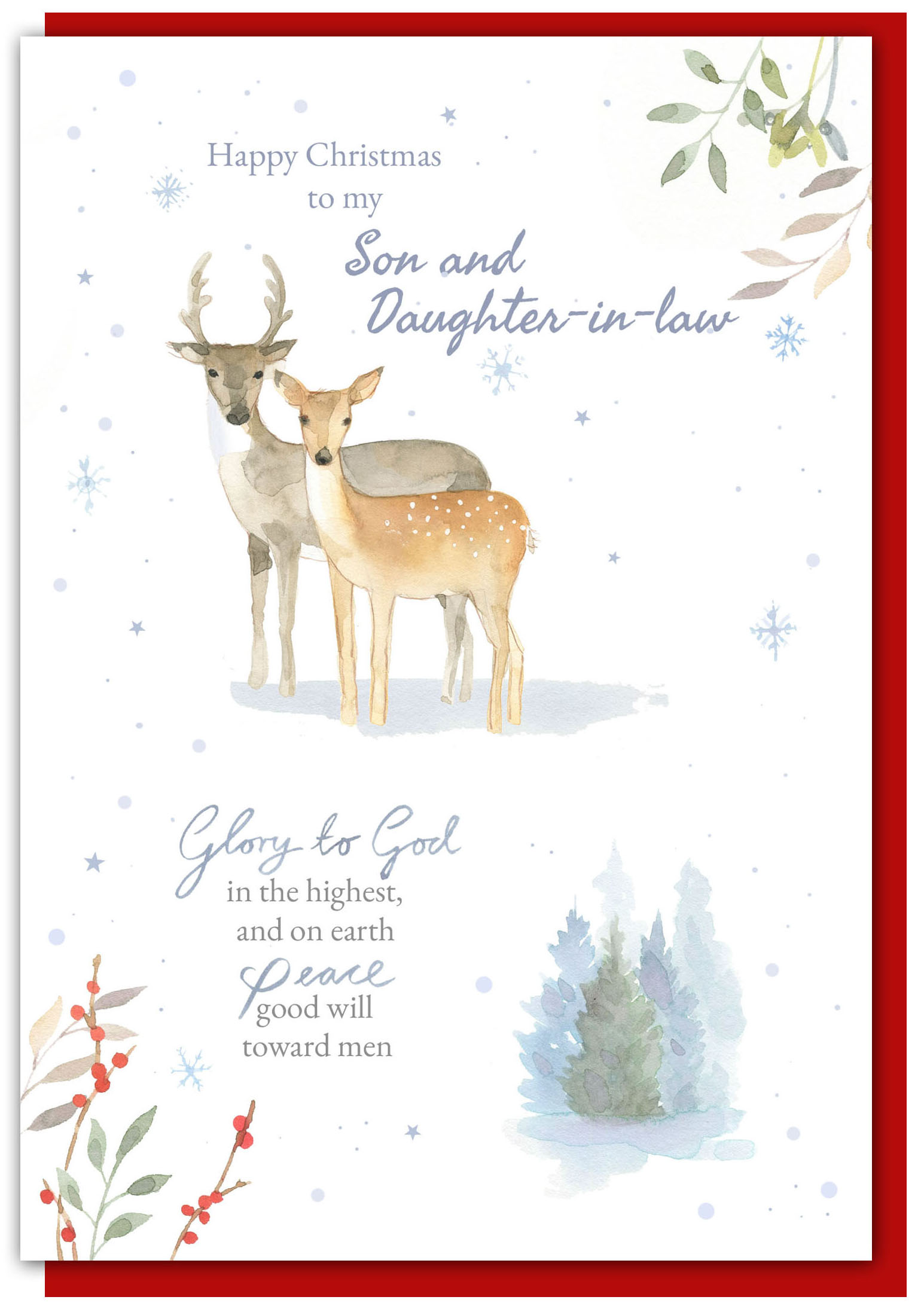 Son Daughter In Law Christmas Card 0604565252487 Fast Delivery At Eden