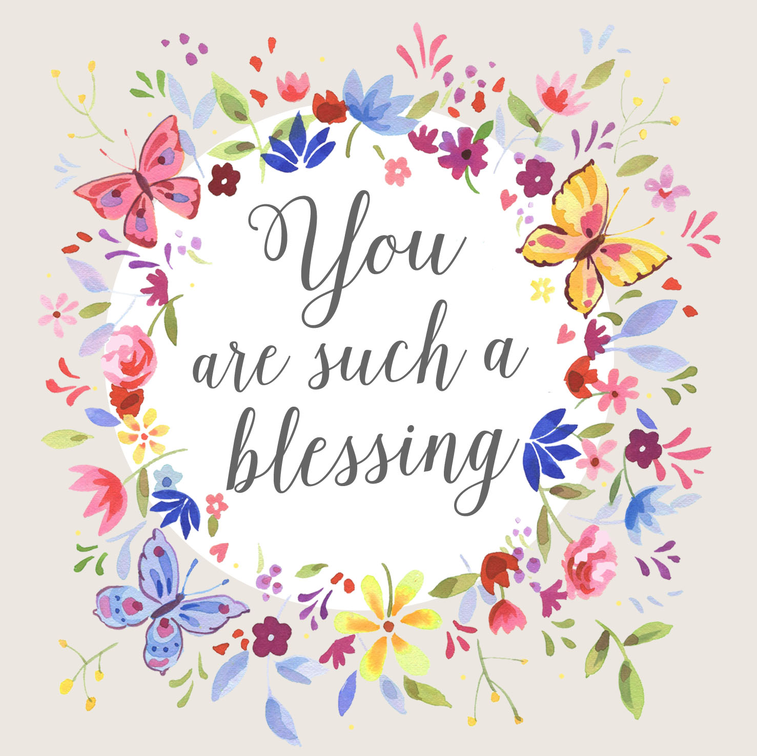 You are such a Blessing Single Card: Free Delivery when you spend £10  at Eden.co.uk