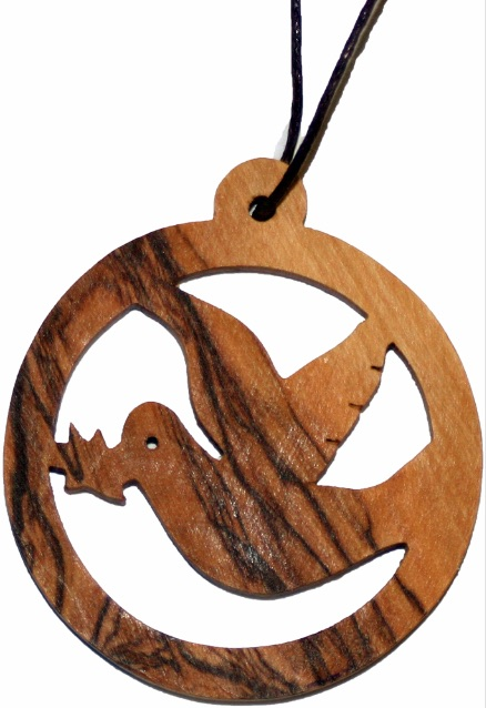 Small Olive Wood Round Dove Free Delivery When You Spend