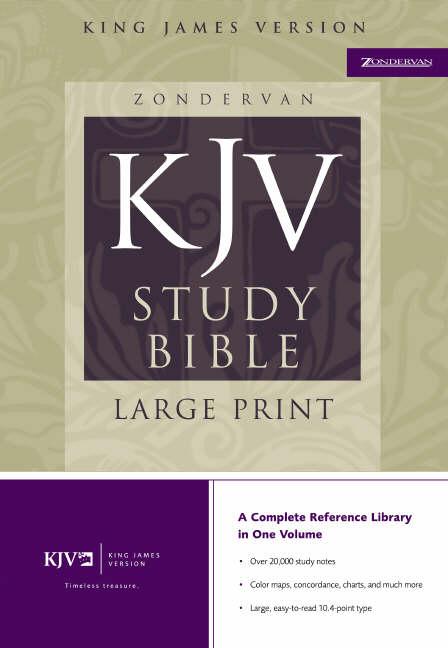 KJV Study Bible: Burgundy, Bonded Leather, Large Print
