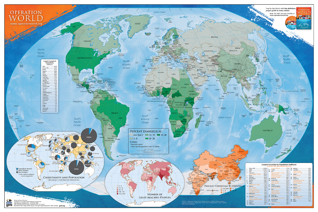 See Map Of The World.Operation World Map Folded