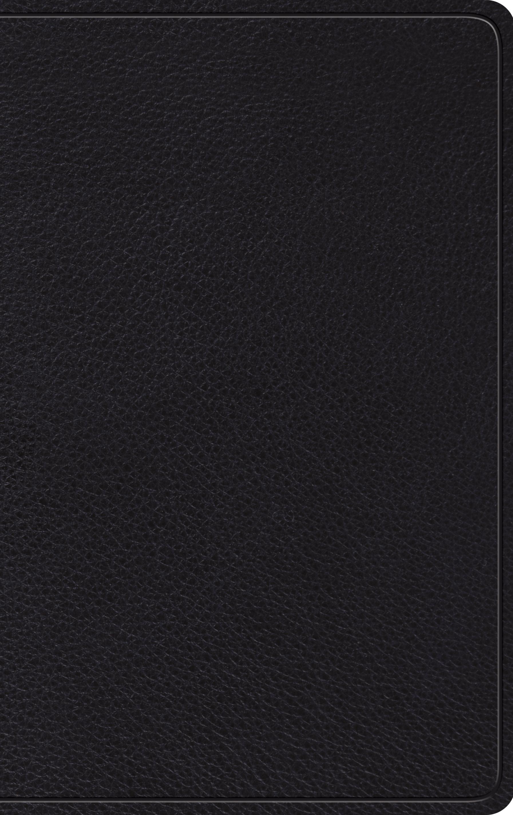 Esv Thinline Bible Black Leather Colour Maps Concordance Ribbons 9781433565519