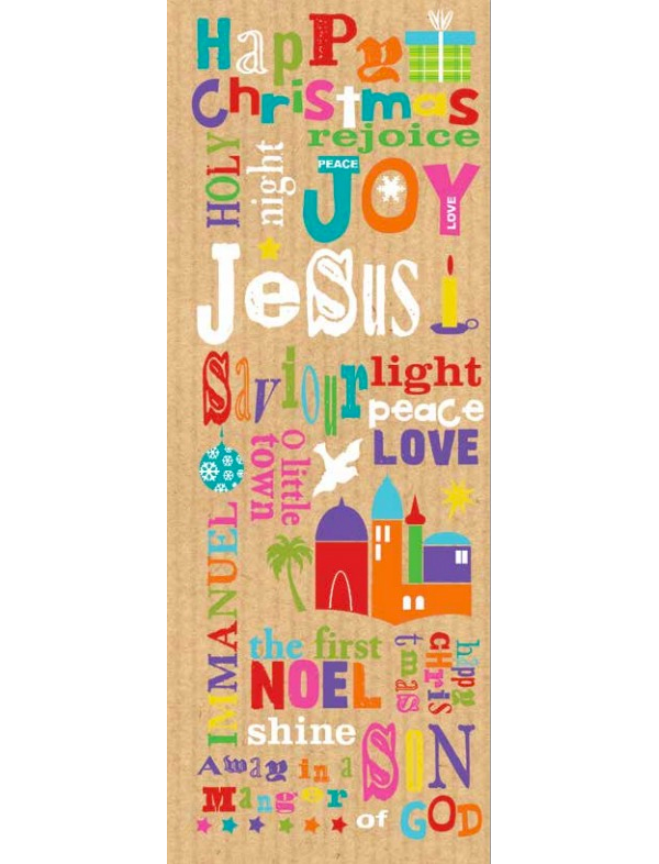 bright words christmas cards pack of 10  edencouk